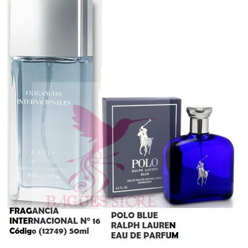 FRAGANCIA INTERNACIONAL N°16 REFERENCIA POLO BLUE